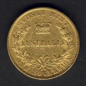 Australia-1866-Sydney-Mint-Sovereign-Part-Lustre-aVF-VF