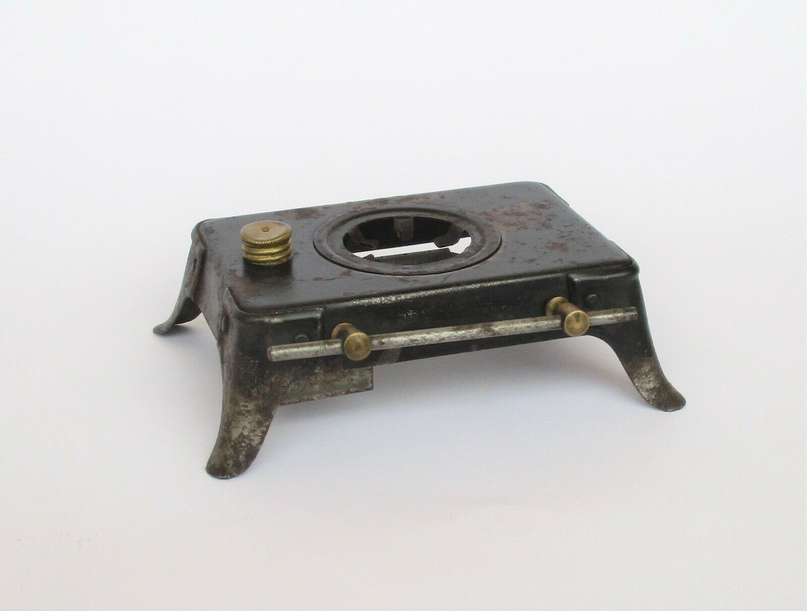 ANTIQUE MINIATURE KITCHEN COOK STOVE WITH ONE BURNER TIN TOY