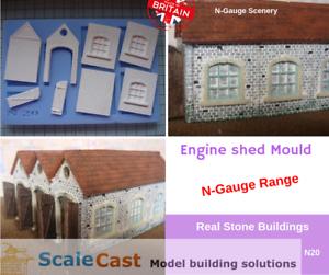 Charmant N Gauge Engine Shed Mould - N20 - Real Stone Buildings In N Scale
