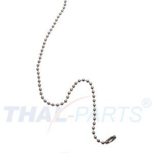 100-Stueck-Kugelketten-2-4mm-x-102mm-Silbern-mit-Verschluss-Kugelkette-Kette
