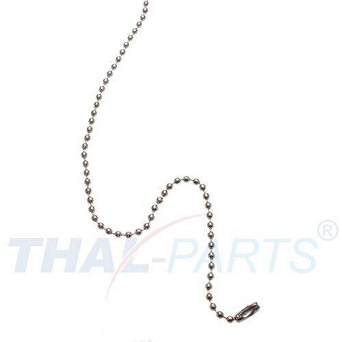 100 unidades bala cadenas 2,4mm x 102mm plateado con cierre bala cadena cadena
