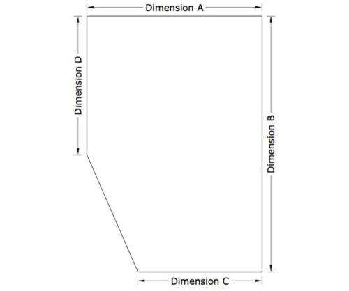 CUT CORNER BESPOKE CARAVAN SIZE REFLEX FOAM MATTRESS 4.6FT 20CM THICK
