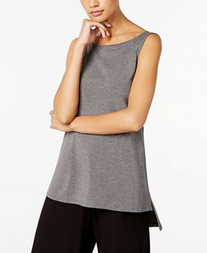 Eileen Fisher Tencel Jersey Boat-Neck High-Low Tunic