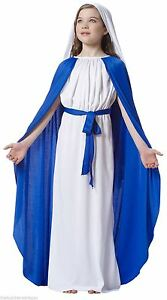 Girls-Childs-Virgin-Mary-Costume-Nativity-Christmas-Childrens-Fancy-Dress