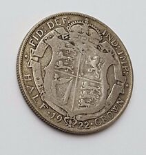 Dated : 1922 - Silver Coin - Half Crown - King George V - Great Britain UK