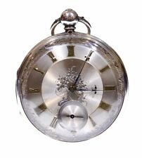 Large Antique Pocket Watch 1857 Solid Silver Fusee Lever. Serviced