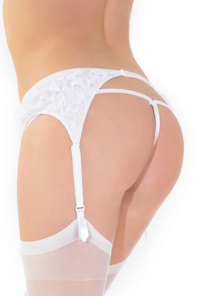 Spitzen Strapsgürtel verstellbar Größenwahl Rüschen sexy Strapse Strumpfhalter