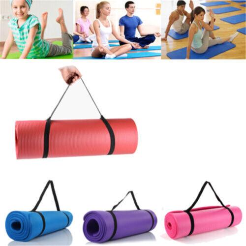 15MM Yoga Mat Non-slip Exercise Mat Pilates Training Thick Cushion Gym Fitness J