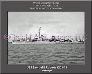 Roberts DD-823 T-Shirt US USN Navy USS Samuel B