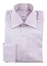 New KITON Pink Nailhead French Cuff Extrafine Cotton Dress Shirt 15 38 S $595!