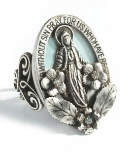 New Sweet Romance Our Lady Of Miracles Virgin Mary Adjustable Ring