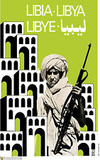 Political OSPAAAL poster.LIBIA.Libya Lebye Soldier.Gaddafi Cold War History.me2