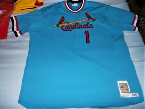 brand new 33306 8d8f6 Details about Mitchell Ness M&N St Louis Cardinals Ozzie Smith Authentic  Jersey USA sz 60 4XL