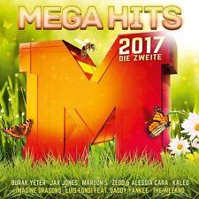 MEGAHITS 2017, DIE ZWEITE  (SEAN PAUL, ROBIN SCHULZ, AFROJACK, ...) 2 CD NEU