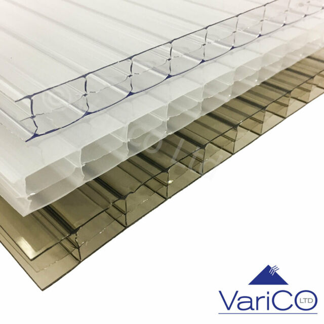 Polycarbonate Sheets Standard Rectangles 10mm Width 1050mm Length 3000mmClear
