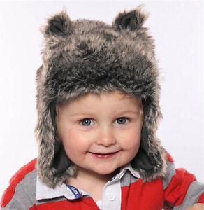 Baby Hat Faux Fur Russian Trapper Cute Ears Boys Girls Warm Cosy ... 8c856226de7