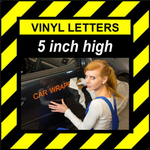 1 Character 5 inch 127mm high pre-spaced stick on vinyl letter /& number