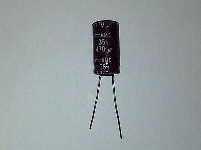 NIPPON Radial Aluminum Electrolytic Capacitor 470uF 35V 20/% **NEW** Qty.5