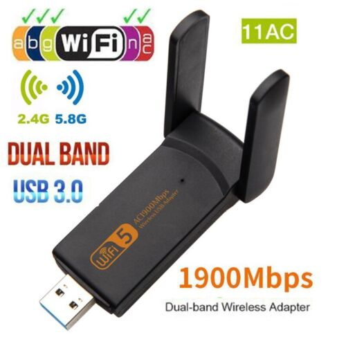 Dual Band 1900Mbps Wireless usb wifi adapter wifi receiver 802.11AC wifi dongle