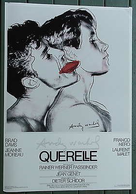 Andy Warhol Querelle 1982•Fassbinder•Movie Poster 28x40 Original Grey/White VF