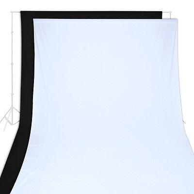 10 x 20 Ft Black & White 100% Cotton Muslin Backdrops Photo Studio Background