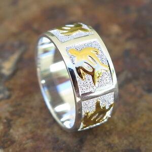 Image Is Loading Hawaiian 925 Silver Gold Honu Sea Turtle Wedding