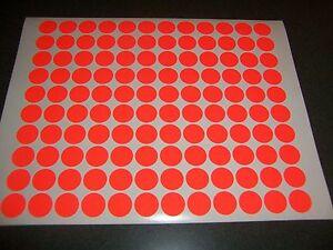 432 Fluorescent Neon Red Blank Rummage Garage Yard Sale