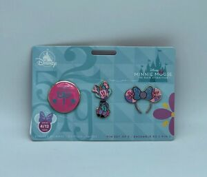 Disney-Minnie-Mouse-The-Main-Attraction-It-039-s-a-Small-World-April-Mickey-Pin-Set