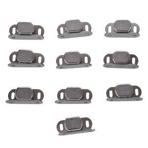 10 stueck silber metall einzel magnet verschluss fuer schrank tuer kabinett gy ebay. Black Bedroom Furniture Sets. Home Design Ideas
