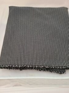 Black-White-Check-Med-Weight-Poly-Double-knit-fabric-1960-70-039-s-2-yds-32-034-60-034-W