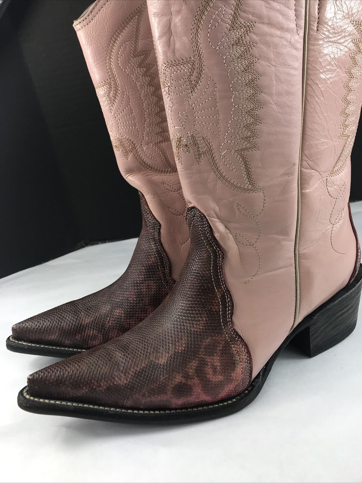 Vintage ROGERS Cowboy Boots 7 M Mens EXOTIC Snake… - image 2