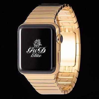 24K Gold Apple Watch 38mm with Link Bracelet