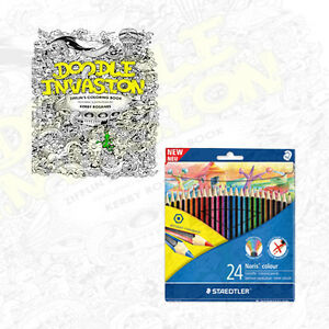 Doodle Invasion Zifflins Coloring Book And Free