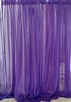Purple Wedding Decoration Drapes Sheer 13 To 18 Ft X 114. Backdrop.