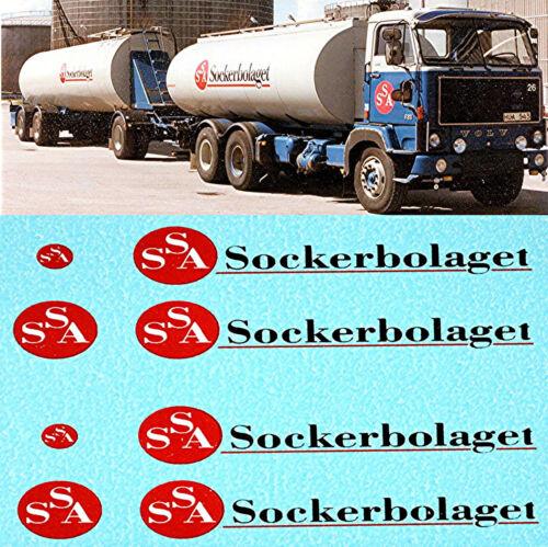 Volvo f89 ssa sockerbolaget Sugar Company 1:50 Truck decal camiones estampado