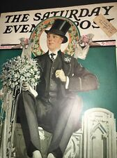 Cover Only Saturday Evening Post Apr 21 1928 Man Wedding Day fashion clothing