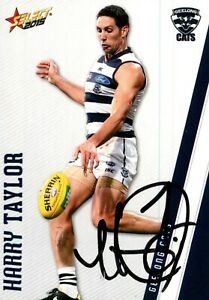 Signed-2015-GEELONG-CATS-AFL-Card-HARRY-TAYLOR