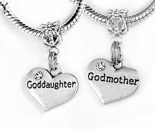 Goddaughter Godmother Charm Onlyset Goddaughter godmother  jewelry godparents