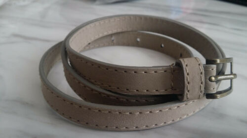 Ladies Girls Ultra Thin Narrow Skinny Patent Look Fashion Belt different Size UK