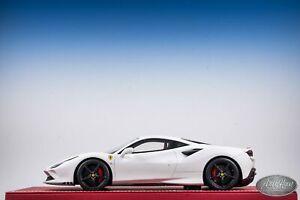 1 18 Bbr Ferrari F8 Tributo Coupe Matt White Ebay