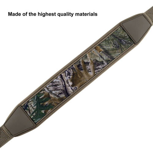 Camo Tan Rifle Gun Sling Adjustable Shoulder Strap with Swivels for Hunting New