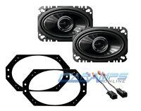 Front Dash Car Stereo Speaker Mounting Brackets W Harness Set For 97-06 Wrangler on sale