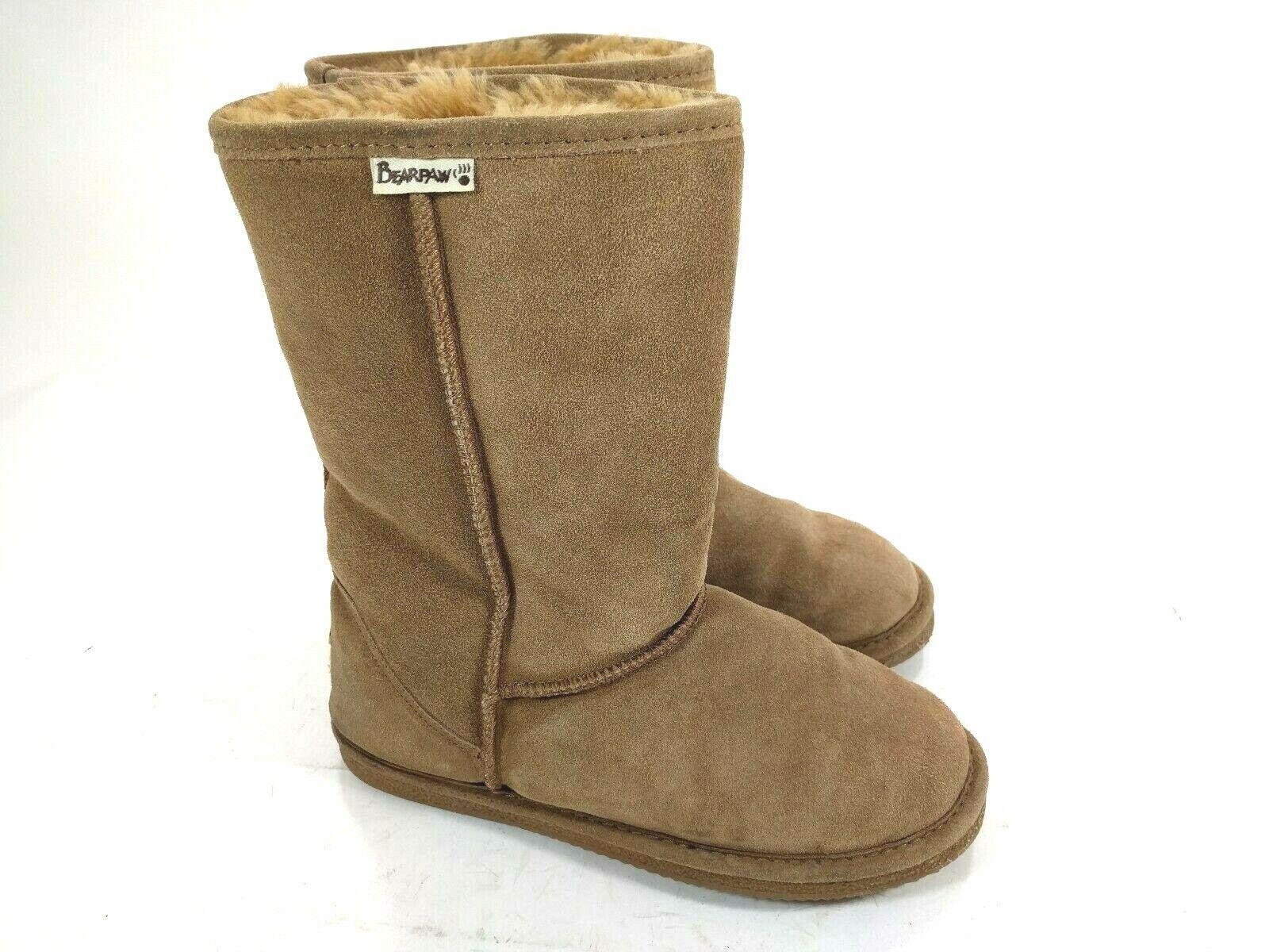 Bearpaw Beige Womens Size 9M Suede Sheepskin wool lining Winter Boots