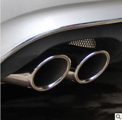 2 X Embouts Tuyaux Tube Echappement Chrome 4motion Pour Vw Tiguan 2007-2015 75mm