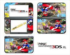 HAUT STICKER AUFKLEBER - NINTENDO NEU 3DS XL - REF 82 MARIO KART