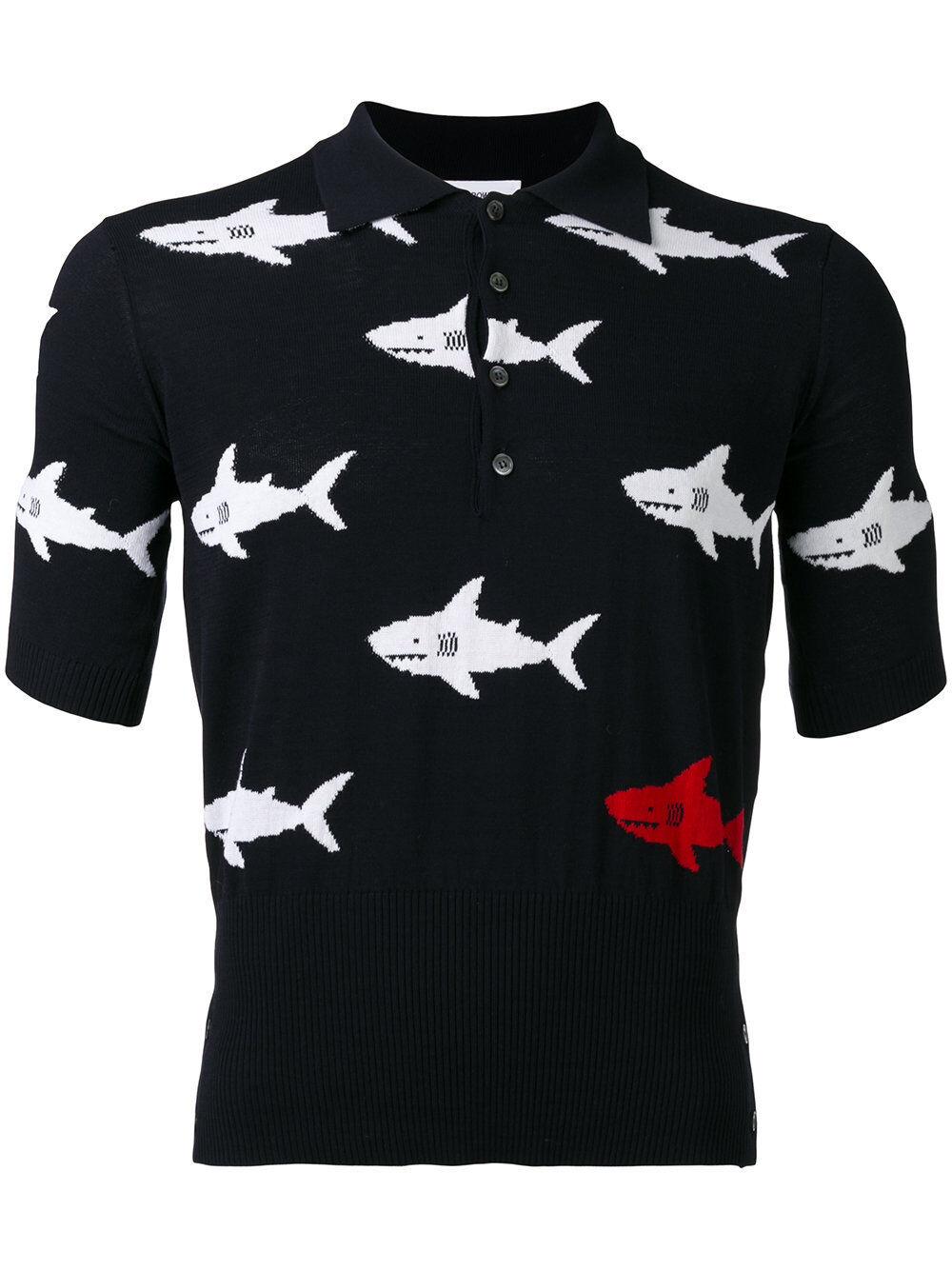 a6482a3e0f0f Thom Browne Shark Intarsia Short Sleeve Knit Polo. 2. for sale ...