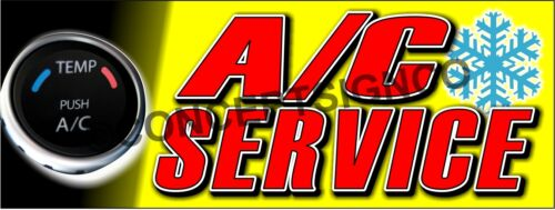 2/'X5/'  A//C SERVICE BANNER Outdoor Indoor Sign Auto Shop Air Conditioning Repair