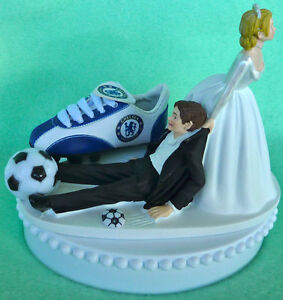 Wedding Cake Topper Chelsea Football Club FC Soccer Themed Bride ...