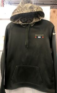 online retailer 95645 da3a3 Details about DENVER BRONCOS NIKE SALUTE TO SERVICE Women's Pullover Hoodie  Size Med NWT