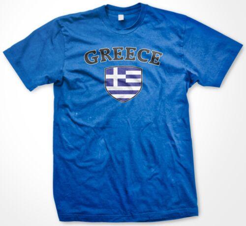 Greece Greek Country Crest Flag Colors Ethnic Pride Men/'s T-shirt